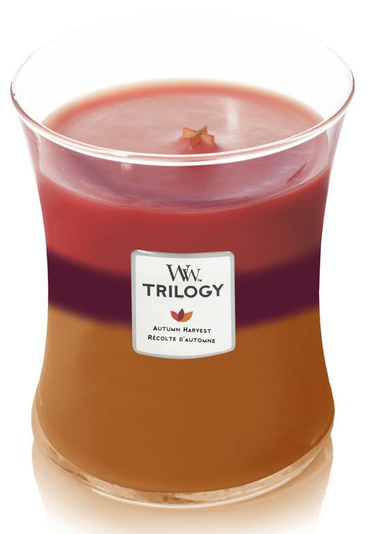 Aromatická svíčka váza, WoodWick Trilogy Autumn Harvest, hoření až 65 hod-1152
