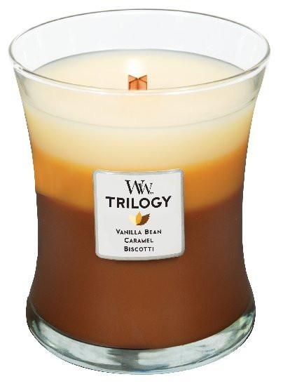 Aromatická svíčka váza, WoodWick Trilogy Café Sweets, hoření až 65 hod-972
