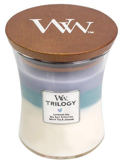 Aromatická svíčka váza, WoodWick Trilogy Calming Retreat, hoření až 65 hod-981