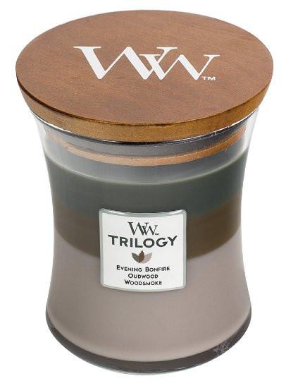 Aromatická svíčka váza, WoodWick Trilogy Cozy Cabin , hoření až 65 hod-400