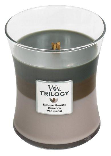Aromatická svíčka váza, WoodWick Trilogy Cozy Cabin , hoření až 65 hod-482