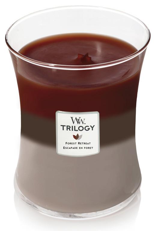 Aromatická svíčka váza, WoodWick Trilogy Forest Retreat, hoření až 65 hod-395