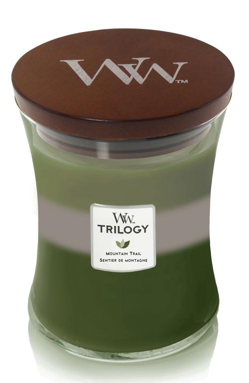 Aromatická svíčka váza, WoodWick Trilogy Mountain Trail, hoření až 65 hod-1162