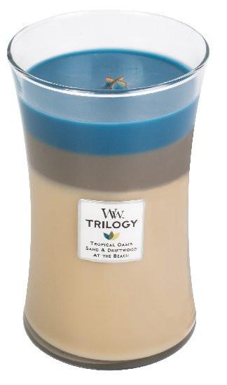 Aromatická svíčka váza, WoodWick Trilogy Nautical Escape, hoření až 120 hod