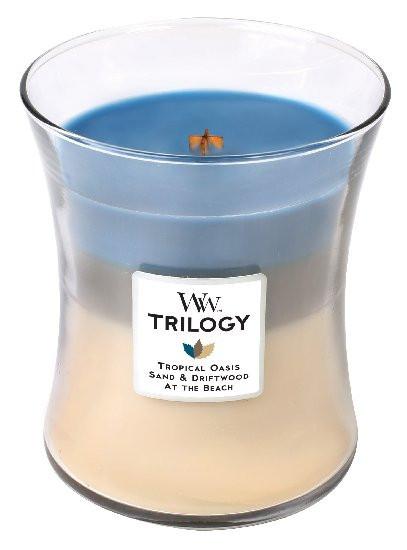 Aromatická svíčka váza, WoodWick Trilogy Nautical Escape, hoření až 65 hod-366