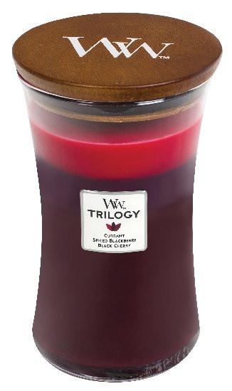 Aromatická svíčka váza, WoodWick Trilogy Sun Ripened Berries, hoření až 120 hod-898