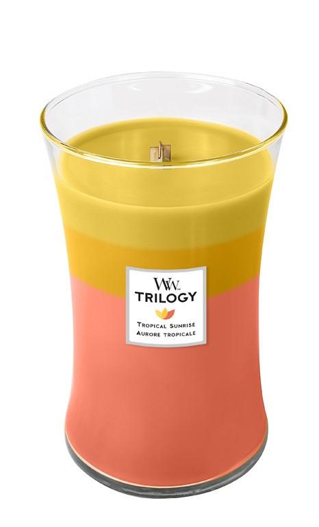 Aromatická svíčka váza, WoodWick Trilogy Tropical Sunrise, hoření až 120 hod-4740