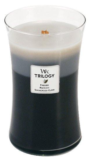Aromatická svíčka váza, WoodWick Trilogy Warm Woods, hoření až 120 hod