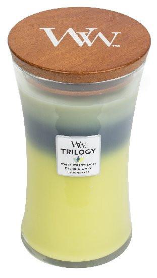 Aromatická svíčka váza, WoodWick Trilogy Woodland Trilogy, hoření až 120 hod-655