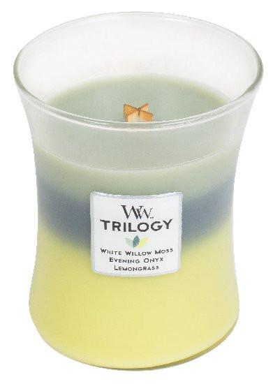 Aromatická svíčka váza, WoodWick Trilogy Woodland Trilogy, hoření až 65 hod-333