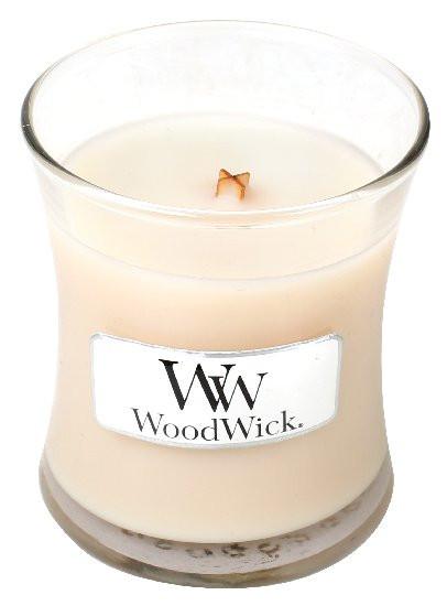 Aromatická svíčka váza, WoodWick Vanilla Bean, hoření až 30 hod