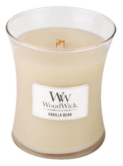 Aromatická svíčka váza, WoodWick Vanilla Bean, hoření až 65 hod-1139