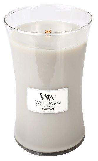 Aromatická svíčka váza, WoodWick Warm Wool, hoření až 120 hod-43