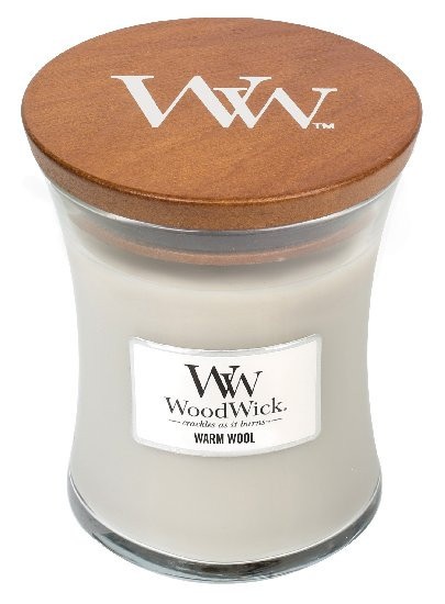 Aromatická svíčka váza, WoodWick Warm Wool, hoření až 65 hod-714
