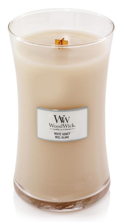 Aromatická svíčka váza, WoodWick White Honey, hoření až 120 hod-1271
