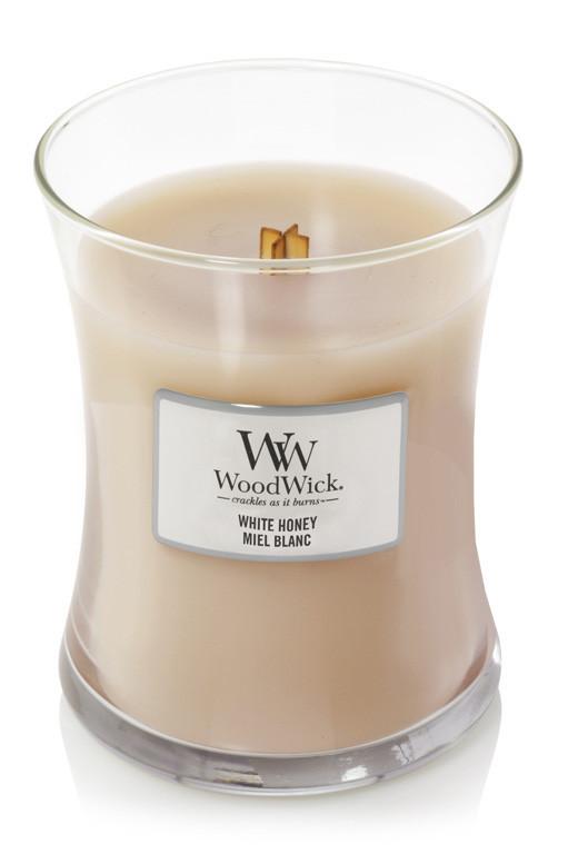 Aromatická svíčka váza, WoodWick White Honey, hoření až 65 hod-500
