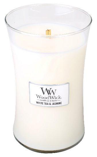 Aromatická svíčka váza, WoodWick White Tea & Jasmine, hoření až 120 hod