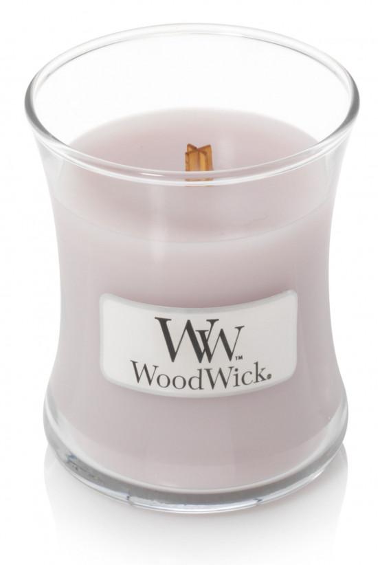 Aromatická svíčka váza, WoodWick Wild Violet, hoření až 30 hod