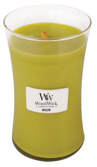 Aromatická svíčka váza, WoodWick Willow, hoření až 120 hod