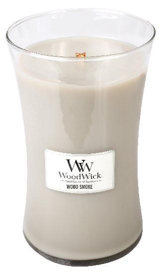 Aromatická svíčka váza, WoodWick Wood Smoke, hoření až 120 hod