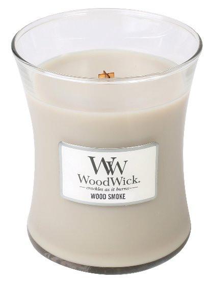 Aromatická svíčka váza, WoodWick Wood Smoke, hoření až 65 hod-244