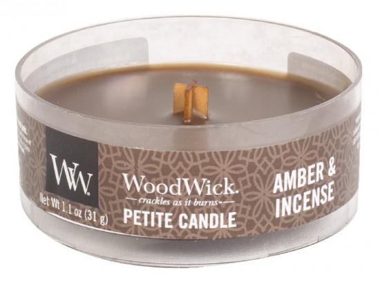 Aromatická svíčka, WoodWick Petite Amber & Incense, hoření až 8 hod-794