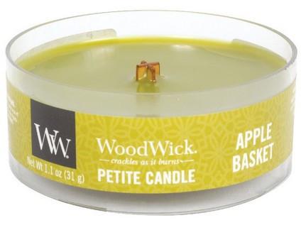 Aromatická svíčka, WoodWick Petite Apple Basket, hoření až 8 hod