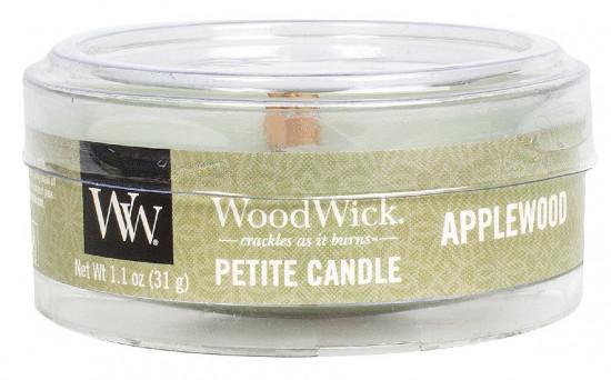 Aromatická svíčka, WoodWick Petite Applewood, hoření až 8 hod-919