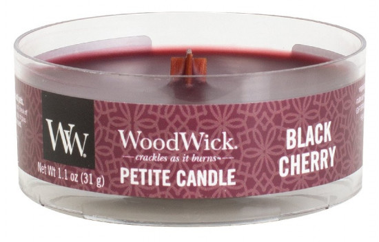 Aromatická svíčka, WoodWick Petite Black Cherry, hoření až 8 hod-966