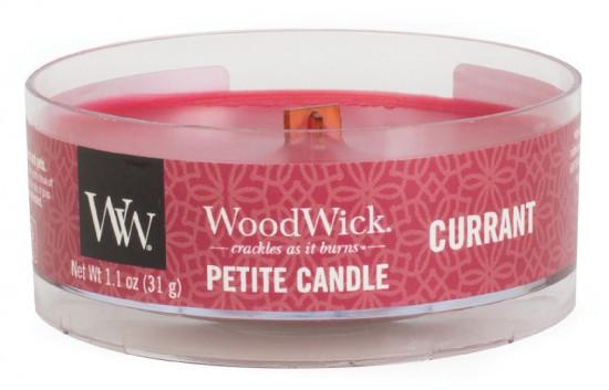 Aromatická svíčka, WoodWick Petite Currant, hoření až 8 hod-220
