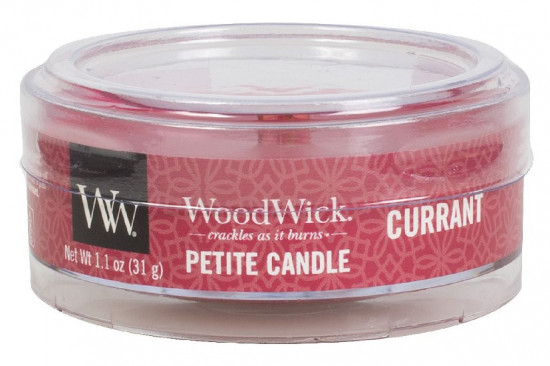 Aromatická svíčka, WoodWick Petite Currant, hoření až 8 hod-278