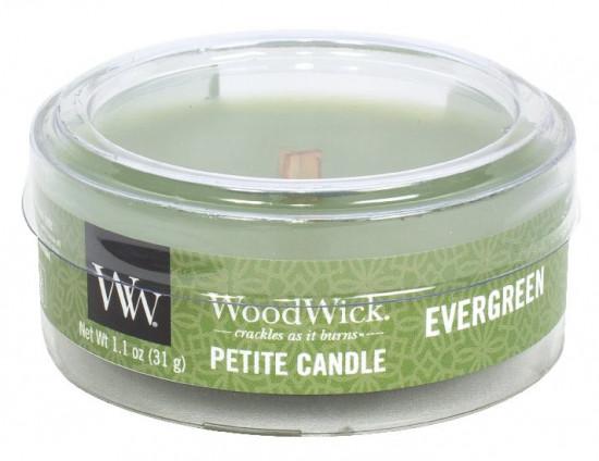 Aromatická svíčka, WoodWick Petite Evergreen, hoření až 8 hod-533
