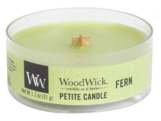 Aromatická svíčka, WoodWick Petite Fern, hoření až 8 hod