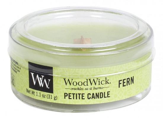 Aromatická svíčka, WoodWick Petite Fern, hoření až 8 hod-906