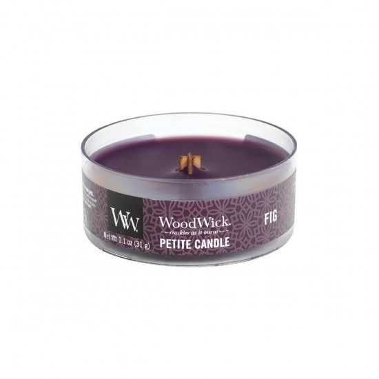 Aromatická svíčka, WoodWick Petite Fig, hoření až 8 hod