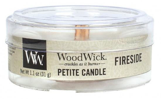 Aromatická svíčka, WoodWick Petite Fireside, hoření až 8 hod-648
