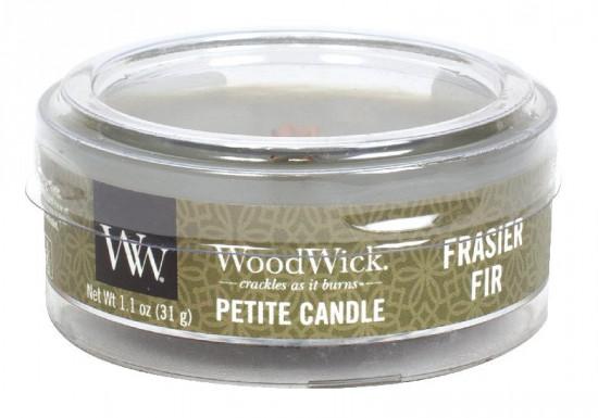 Aromatická svíčka, WoodWick Petite Frasier Fir, hoření až 8 hod-715