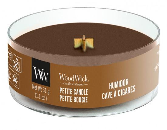 Aromatická svíčka, WoodWick Petite Humidor, hoření až 8 hod