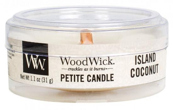 Aromatická svíčka, WoodWick Petite Island Coconut, hoření až 8 hod-685