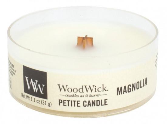 Aromatická svíčka, WoodWick Petite Magnolia, hoření až 8 hod
