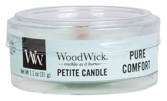 Aromatická svíčka, WoodWick Petite Pure Comfort, hoření až 8 hod