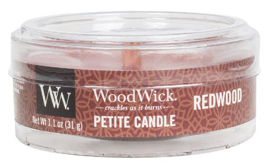Aromatická svíčka, WoodWick Petite Redwood, hoření až 8 hod-1004
