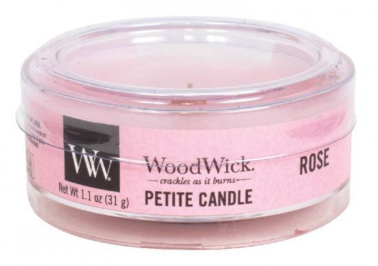 Aromatická svíčka, WoodWick Petite Rose, hoření až 8 hod-399