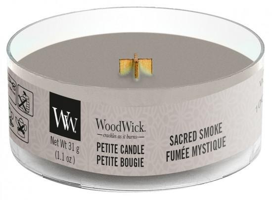 Aromatická svíčka, WoodWick Petite Sacred Smoke, hoření až 8 hod-113