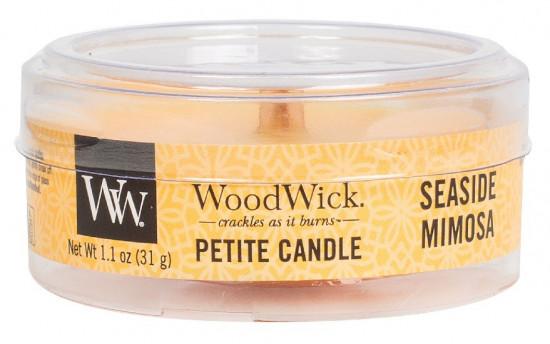 Aromatická svíčka, WoodWick Petite Seaside Mimosa, hoření až 8 hod