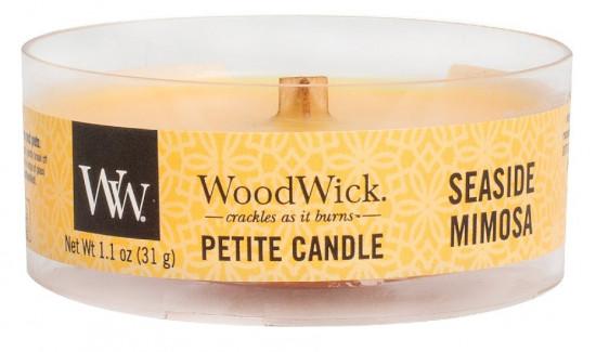 Aromatická svíčka, WoodWick Petite Seaside Mimosa, hoření až 8 hod-631
