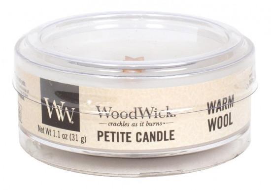 Aromatická svíčka, WoodWick Petite Warm Wool, hoření až 8 hod-809