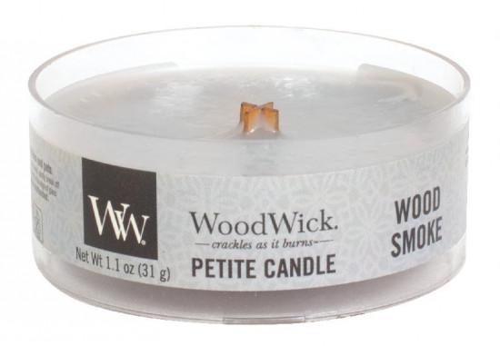 Aromatická svíčka, WoodWick Petite Wood Smoke, hoření až 8 hod-1258