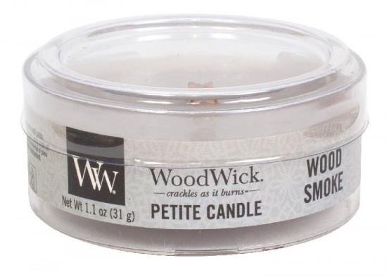 Aromatická svíčka, WoodWick Petite Wood Smoke, hoření až 8 hod-452