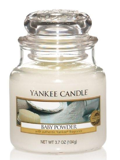 Aromatická svíčka, Yankee Candle Baby Powder, hoření až 30 hod-249
